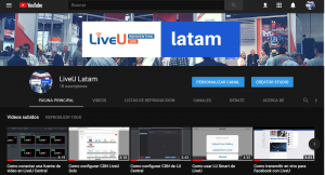 LiveU Latam Youtube Channel